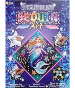 Картина из пайеток для детей набор для детского творчества Русалка Sequin Art