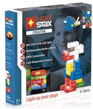 Конструктор светопрозрачных конструкций с LED подсветкой, реагирует на свет и звук, LIGHT STAX