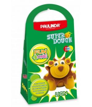 Детская масса для лепки Super Dough Fun4one Лев (подвижные глазки), PAULINDA