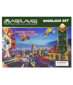 Магнитный конструктор геометрические фигуры, 112 шт, MagPlayer