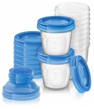 Avent Контейнери для зберігання грудного молока 10х180мл