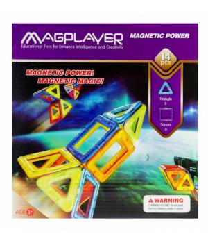 Магнитный конструктор геометрические фигуры 14 элементов, MagPlayer