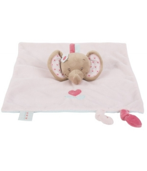 Комфортер для новорожденных, Слоник розовый, Nattou Doodoo
