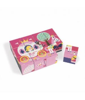 Детские кубики картонные, Сказки, 12 элементов, Janod