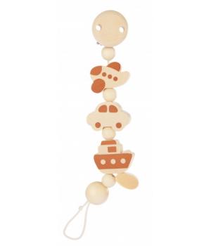 Деревянный держатель для пустышки для мальчика, с петлей, Heimess