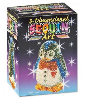 Фигурка из пайеток набор для детского творчества 3D Пингвин Sequin Art