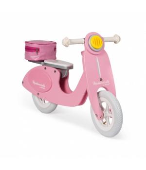 Деревянный беговел скутер, для детей от 3 лет, розовый, Janod