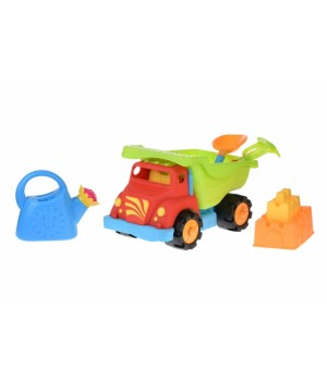Набор для игры с песком - Грузовик 36 см, красный, Same Toy