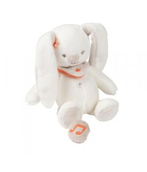 Мягкая игрушка кролик с музыкой 21 см Nattou