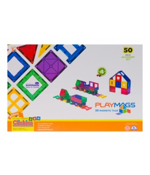 Магнитный конструктор геометрические фигуры, 50 деталей, MagPlayer