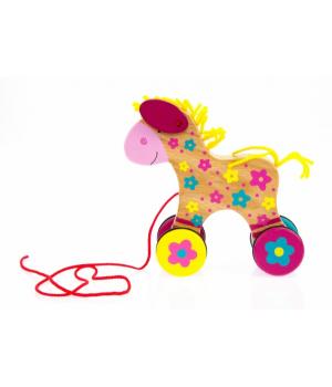 Каталка на веревочке для детей, Лошадка Susibelle, Goki