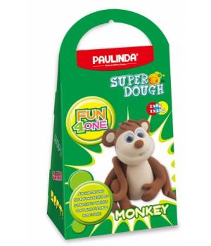 Детская масса для лепки Super Dough Fun4one Обезьяна (подвижные глазки), PAULINDA