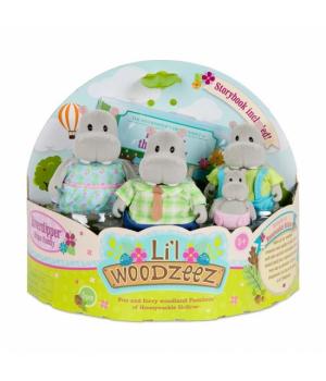 Li`l Woodzeez Набір фігурок Сім'я Бегемотів