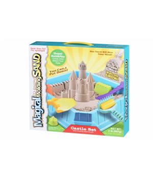 Кинетический песок набор для детей Замок, 0,9 кг (натуральный), Same Toy