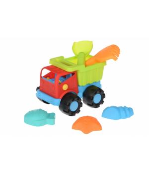 Машинка для песочницы - Грузовик, красный 21 см, Same Toy
