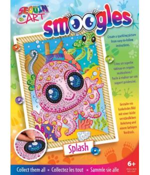 Картина блестками для детей набор для детского творчества Осьминог Sequin Art
