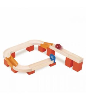 Деревянный конструктор лабиринт с шариком, Trix Track Поворот, Wonderworld