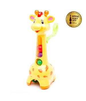 Каталка для детей с ручкой - Жираф (свет, звук), Kiddieland