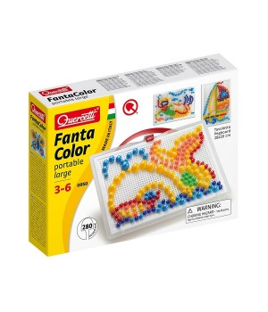Мелкая мозаика для детей (280 Фишек 10-15-20 Мм + Доска 28Х20) Quercetti