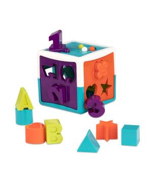 Развивающая игрушка сортер - умный куб (12 форм), Battat