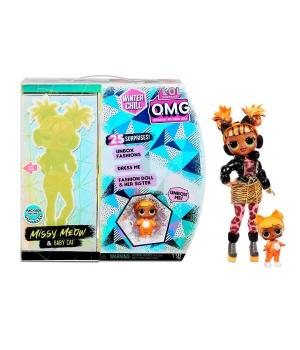 """Игровой набор с куклой L.O.L. SURPRISE! серии """"O.M.G Winter Chill"""" – ЛЕДИ-КИТТИ"""