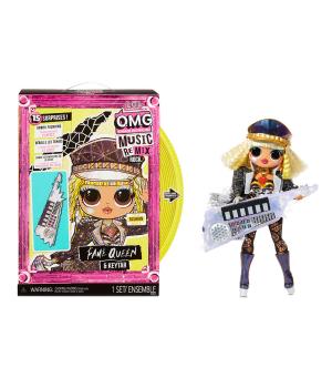 """Игровой набор с куклой L.O.L. SURPRISE! серии """"O.M.G. Remix Rock""""–КОРОЛЕВА СЦЕНЫ(с кл.-тарой и акс.)"""
