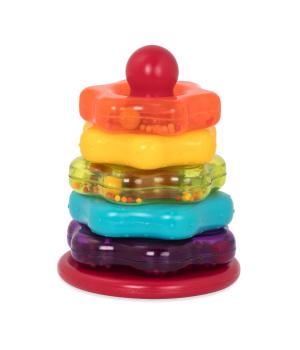 Развивающая игрушка - цветная пирамидка (7 предметов)