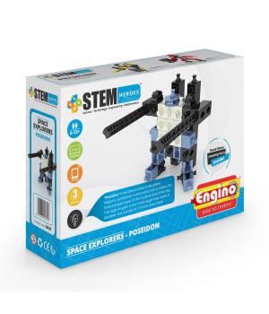 Детский Конструктор серии STEM HEROES - Исследование космоса: Посейдон