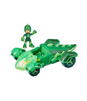 Игрушки Герои в масках Геко и Гекомобиль (с фигуркой, светится), Hasbro