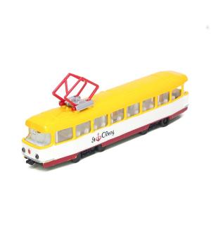 Игрушка модель - Городской Трамвай Одесса (Свет, Звук), Технопарк