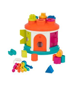 Развивающая игрушка-сортер - УМНЫЙ ДОМИК (12 форм)