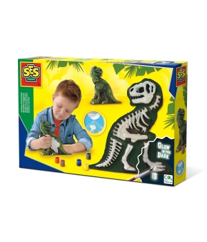 Набор для создания гипсовой фигурки - Ти-Рекс со скелетом
