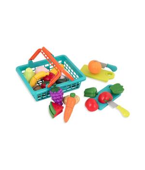 Игрушечные продукты на липучке, в корзинке, 37 предметов, Battat Lite