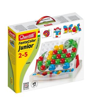 Детская мозаика для самых маленьких (Кейс, 48 Больших Фишек + Доска 27Х21) Quercetti