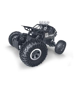 Машинка на пульте управления Монстр Трак – подходит для бездорожья (метал. корпус, 1:18), черная