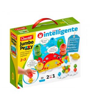 Детская мозаика для самых маленьких (большие фишки (16 шт.), карточки, основы) Quercetti
