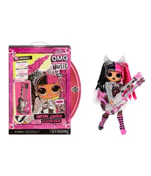 """Игровой набор с куклой L.O.L. SURPRISE! серии""""O.M.G. Remix Rock"""" – ЛЕДИ-МЕТАЛЛ(с эл.-гитарой и акс.)"""