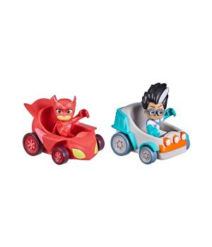 Игровой набор ГЕРОИ В МАСКАХ - Совка против Ромео (2 фигурки, 2 машинки), Hasbro