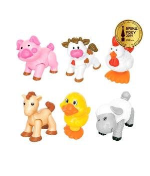 Игровой набор погремушек - Домашние животные, от 1 года, Kiddieland