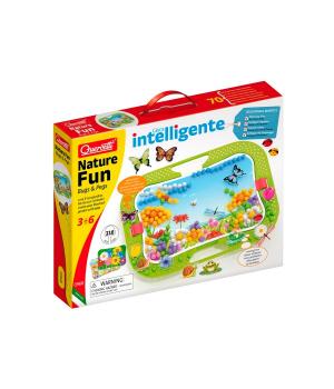 Мелкая мозаика для детей (300 Фишек, 16 Фигурок, Доска 28Х20 Cm) Quercetti