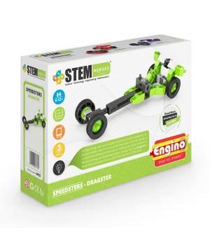 Детский Конструктор серии STEM HEROES - Спортивные автомобили: драгстер
