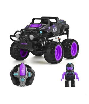Игрушка машинка на радиоуправлении CRASH CAR на р/у - ЧЕРНАЯ ВДОВА (фиолетово-черный, аккум. 4.8V)