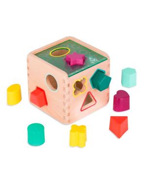 Развивающая деревянная игрушка-сортер - ВОЛШЕБНЫЙ КУБ