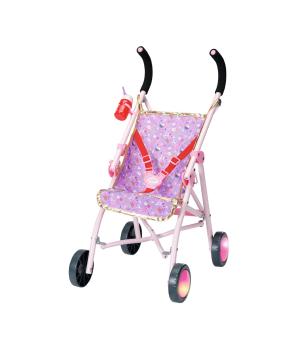 """Коляска для куклы со светящимися колесами BABY BORN серии """"День Рождения"""" - ЯРКИЕ ОГОНЬКИ (складная, светящиеся колеса)"""