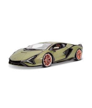 Автомодель - LAMBORGHINI SIAN FKP 37 (матовый зелёный металлик, 1:18)