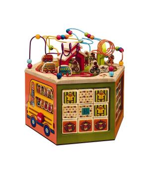 Деревянный игровой развивающий центр игрушка Знайкин, 61х53 см