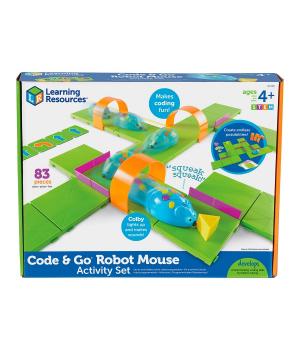 Игровой STEM-набор LEARNING RESOURCES – МЫШКА В ЛАБИРИНТЕ (программируемая игрушка,аксесс.,карточки)