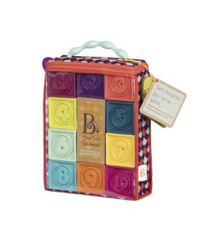 Детские развивающие силиконовые кубики - ПОСЧИТАЙ-КА! (10 кубиков, в сумочке)