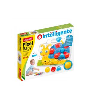 Детская мозаика для самых маленьких (24 Большие Фишки 46 Мм + Доска) Quercetti