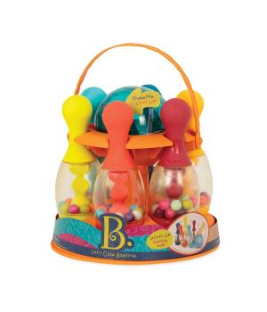 Игрушки боулинг для детей -  (6 кеглей, шар, подставка), Battat